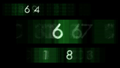 Flashing numbers Stock Video Footage