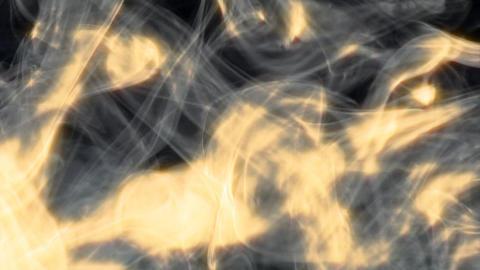 smoky big fire blast wave wipe Stock Video Footage