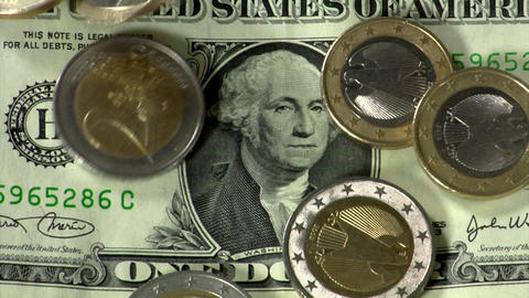 dollar under euro pressure close Footage