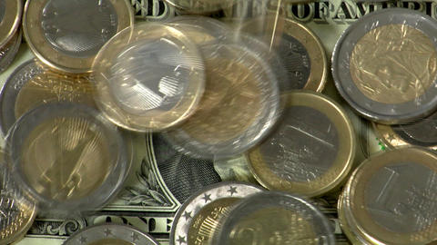 dollar under euro pressure close Stock Video Footage