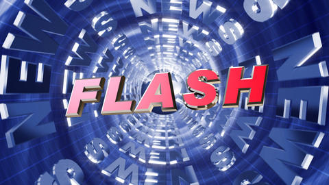 Series News opener - flash Stock Video Footage