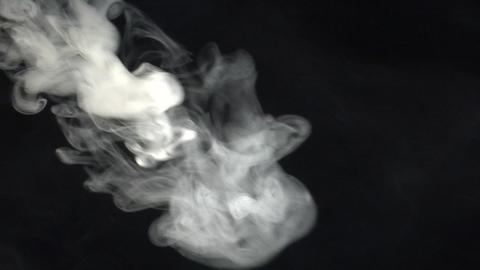 smoke series: side Smoke blast Stock Video Footage