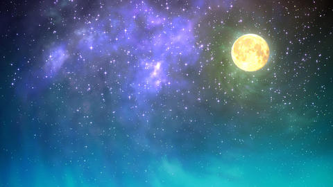 Night sky loop Stock Video Footage