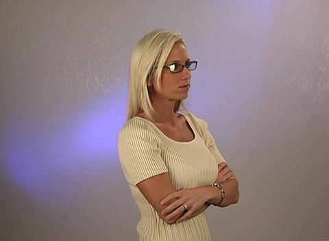 Beautiful Blonde Businesswoman (2) Stock Video Footage