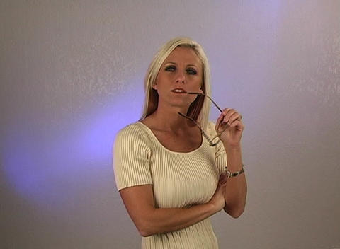 Beautiful Blonde Businesswoman (2) Stock Video Footage