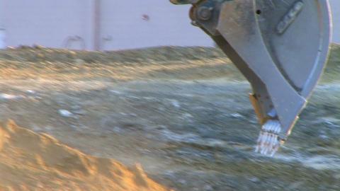Excavator Bucket Digging Stock Video Footage