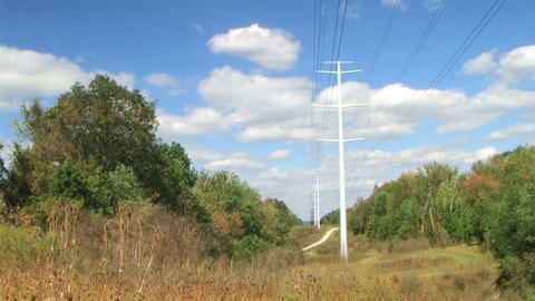Power Lines Time Lapse Stock Video Footage