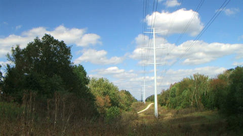 Power Lines Time Lapse Footage