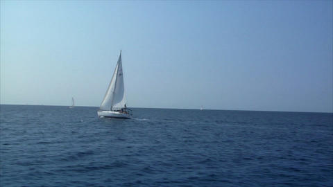sailing boat to boat Footage