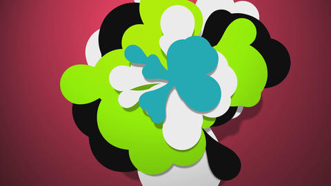 Colorful flower cloud 2 Stock Video Footage