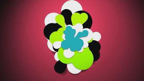 Colorful flower cloud 2 Animation