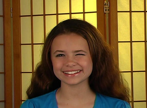 Beautiful Adolescent Girl, All Smiles Stock Video Footage
