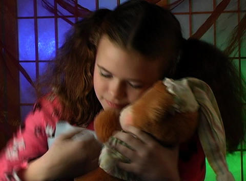 Beautiful Adolescent Girl Ready for Bed (5) Stock Video Footage