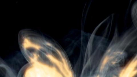 smoky fire blast wipe long Stock Video Footage