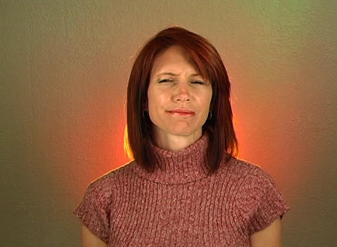 "Beautiful Redhead Shakes Her Head ""No"" (1) Stock Video Footage"