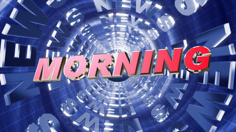 Series News opener - morning Stock Video Footage