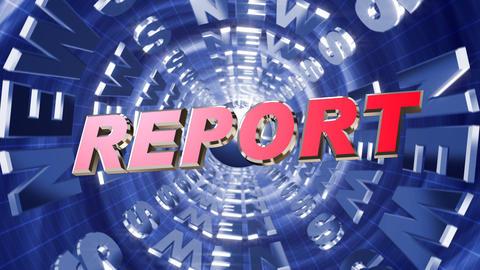 Series News opener - report Stock Video Footage
