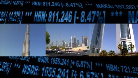 Dubai UAE Stock Finance Montage Stock Video Footage
