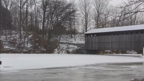 Covered bridge7 Stock Video Footage