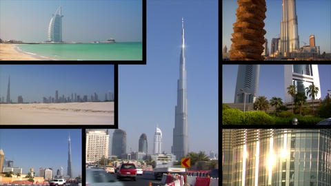 Dubai UAE Montage Stock Video Footage