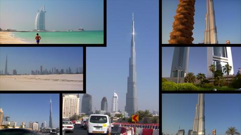 Dubai UAE Montage Footage