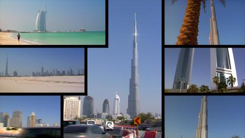 Dubai UAE Montage Stock Video Footage