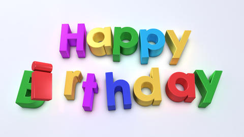 happy birthday magnetic Stock Video Footage
