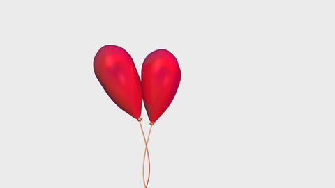 heart balloon Stock Video Footage