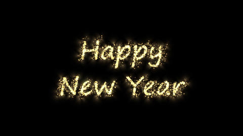 spark happy new year Stock Video Footage