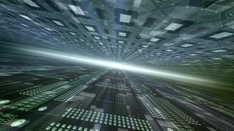 Future tech space 2 De HD Stock Video Footage