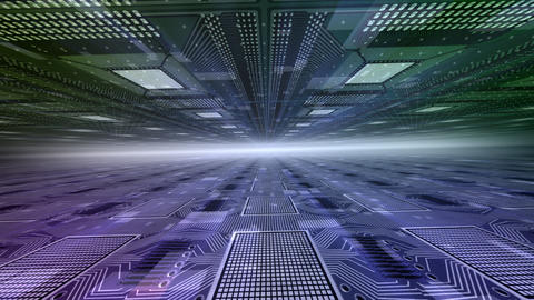 Future tech space 2 Df HD Stock Video Footage