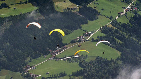 paraglider crossing Footage