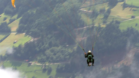 paraglider start closeup Footage