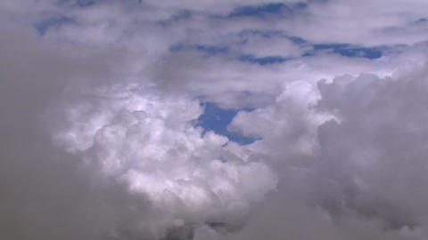 fly through clouds slow Stock Video Footage