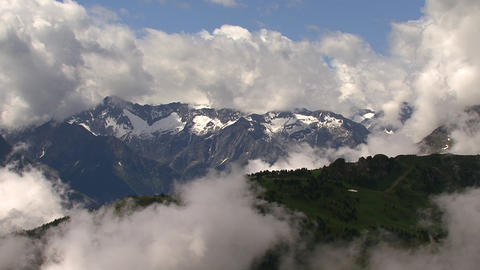 time lapse clouds at 2000 m Stock Video Footage
