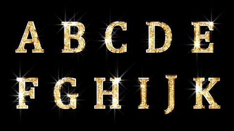 Alphabet Twinkle Gold A1 HD Stock Video Footage