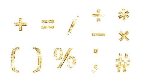 Alphabet Twinkle Gold A3 HD Stock Video Footage