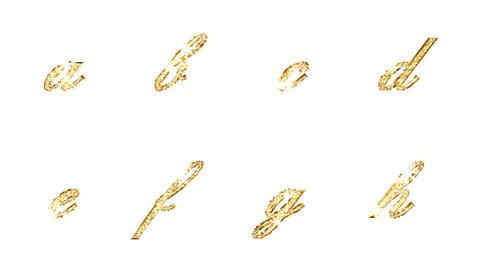 Alphabet Twinkle Gold B2 HD Stock Video Footage