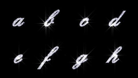 Alphabet Twinkle Silver B2 HD Stock Video Footage