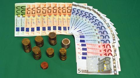Euro Money stock footage