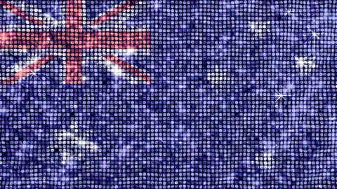 Spangle Flag Australia Stock Video Footage