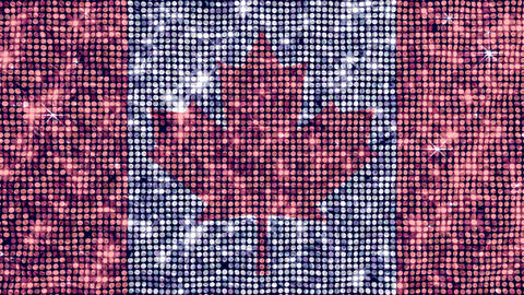 Spangle Flag Canada Stock Video Footage