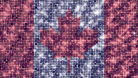 Spangle Flag Canada Animation
