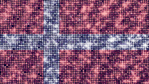 Spangle Flag Denmark Animation