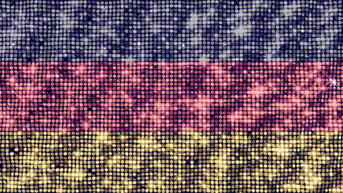 Spangle Flag Germany Stock Video Footage