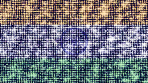 Spangle Flag India Animation