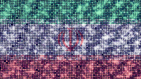 Spangle Flag Iran Animation