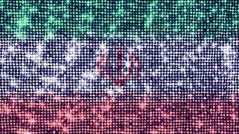 Spangle Flag Iran Stock Video Footage