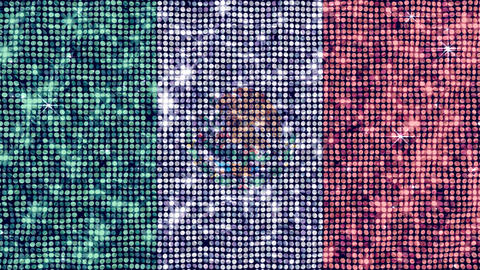Spangle Flag Mexico Stock Video Footage