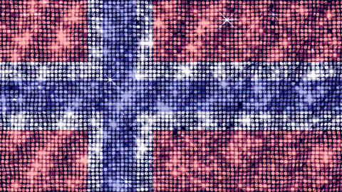 Spangle Flag Norway Stock Video Footage